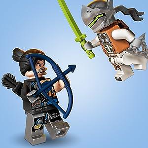LEGO 75971 Overwatch Hanzo vs  Genji Toys with Shimada Henchman Minifigure