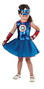 Girls Captain America Costume
