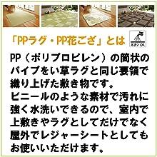 PPとは 説明 上敷き ラグ 花ござ レジャーシート 素材 い草風 水洗いOK