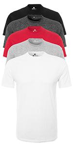 Lower East Herren Langarmshirt mit V-Ausschnitt 5er-Pack