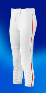 Women's Belted Piped Fastpitch Softball Pants