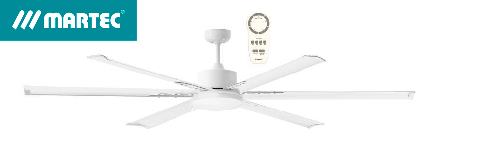 Martec Ventilador de Techo Albatross DC LED 1800mm Blanco: Amazon ...