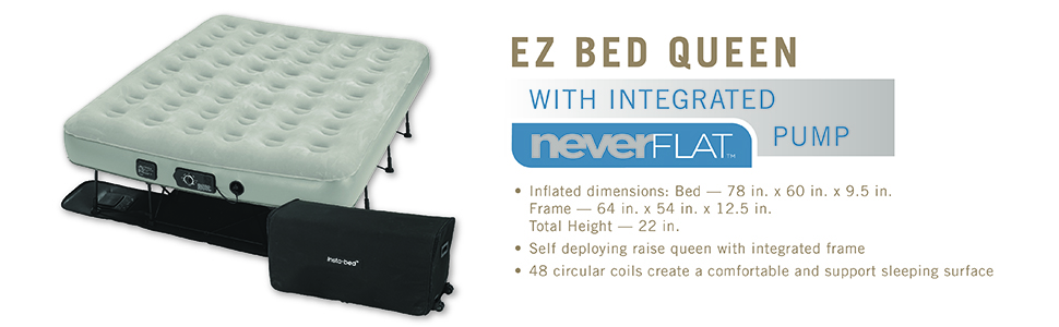 ez, bed, queen, neverflat