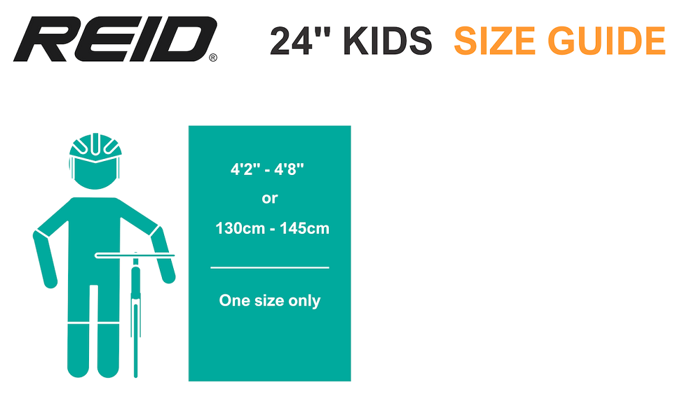 "24"" Kids Size Guide"