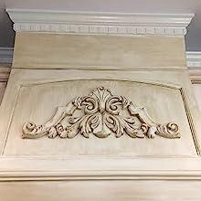 urethane onlay, decorative appliques, architectural onlays, furniture applique, composition ornament