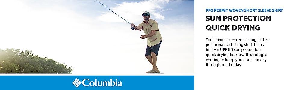 Columbia Men's PFG Permit Woven Short Sleeve Fishing Shirt