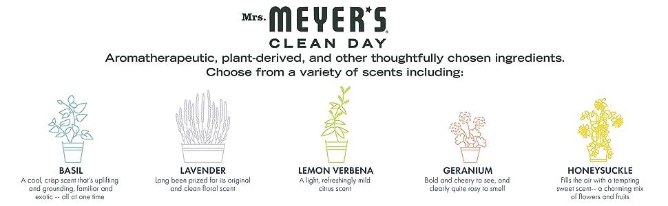 mrs meyers aromatherapeutic plant-derived