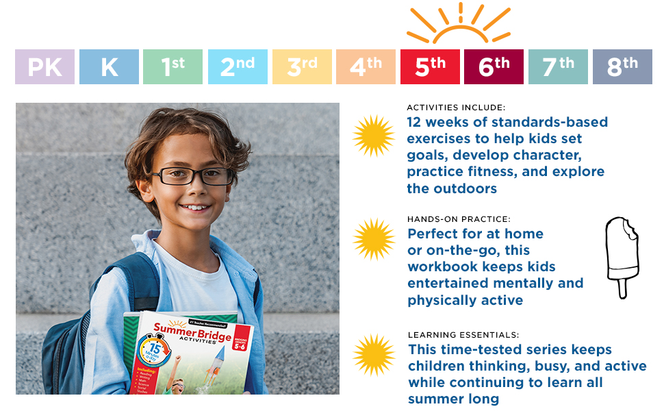 A preschool girl with the workbook in a park