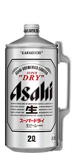 アサヒ スーパードライ ミニ樽アルミ 2L