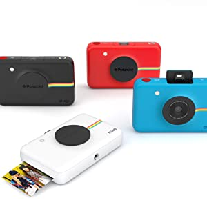 black red blue and white camera