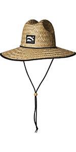 Amazon.com  Brooklyn Surf Men s Straw Sun Lifeguard Beach Hat Raffia ... 4cee9f1828c