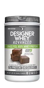 GRASS FED, RBST FREE, WHEY PROTEIN CONCENTRATE, WHEY PROTEIN ISOLATE, Designer Whey, DesignerProtein