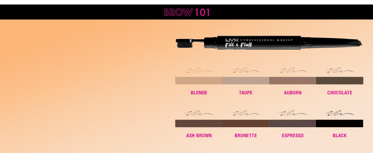 nyx fill fluff eyebrow pomade pencil eyebrow pencil pomade brow filler