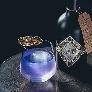 Illusionist Dry Gin, Gin Tonic, Organic, Blue Gin