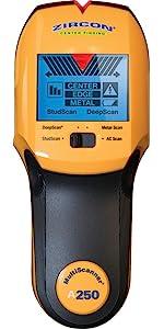 msA250, A250, centerfiner, center, scanner, act, deepscan, beam, joist, wallscanner, centre, escanad