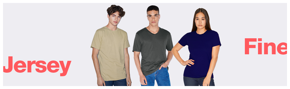american apparel, fine jersey, t-shirts, tees
