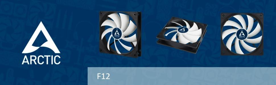 ARCTIC F12-120 mm Standard Low Noise Case Fan - Fluid Dynamic Bearing - Innovative Design