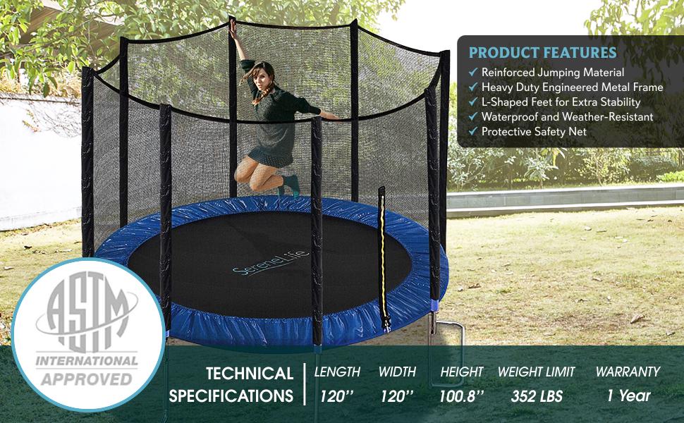 serenelife-trampoline-10ft-astm-approved-trampoline-with-net-enclosure-main-banner-SLTRA10BL