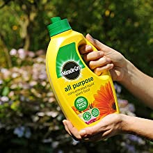 Miracle-Gro All Purpose Concentrated Liquid Plant Food with a unique mix of 9 nutrients