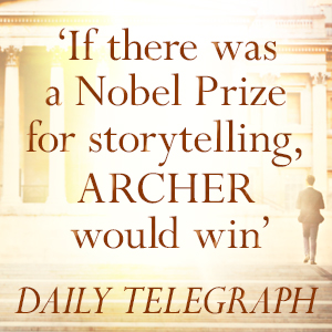 If there was a nobel prize for storytelling archer would win daily telegraph Nothing Ventured