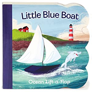 Little Blue Boat Chunky Lift-a-Flap Board Book (Babies Love): Ginger