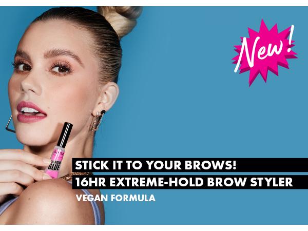nyx brow glue spoolie long wear eyebrow setter clear finish vegan