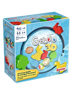Lúdilo- Grabolo Educativo para Jugar en Familia, Mesa para niños, Figuras 3D, Agilidad Mental, Juego Habilidades cognitivas de Madera (80871): Amazon.es: Juguetes y juegos
