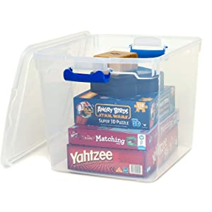 clear storage easy toys games clothes blankets storage organized pantry closet laundry room