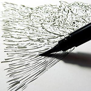 pentel, arts, pocket, brush, calligraphy