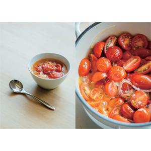 塩とオイルだけ 旬のトマトのシンプルスープ
