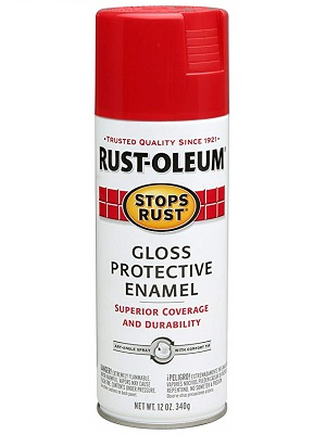 stops rust spray paint red