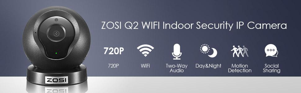 Q2 Mini Wireless IP/Network Security Surveillance Video