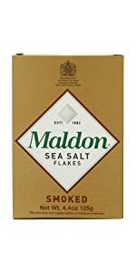 maldon all natural smoked sea salt flakes English Oak