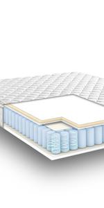 Queen 6 Inch cool gel memory foam mattress, gel mattress queen, best firm cool gel mattress