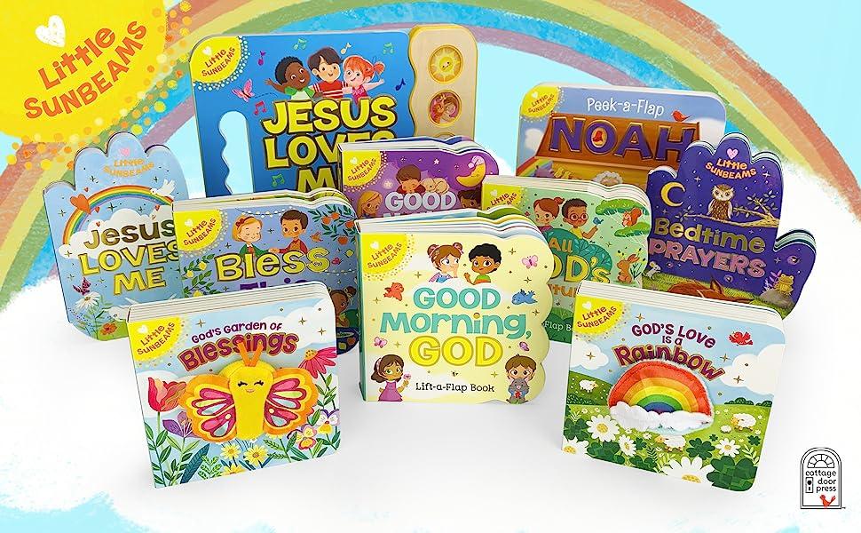 little sunbeams jesus religious inspirational easter christmas god childrens board books