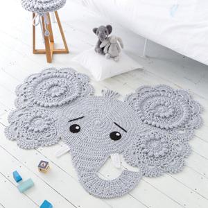 Elephant Nursery Rug For Baby Floor – Toqueglamour | 300x300