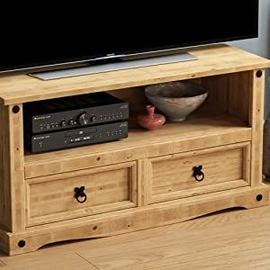 corona solid wood pine wood furniture rustic mexican tv unit cabinet entertainment