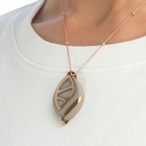 Bellabeat Leaf Crystal Wellness-//Aktivitäts Tracker Kette,Clip,Armband Rose Gold