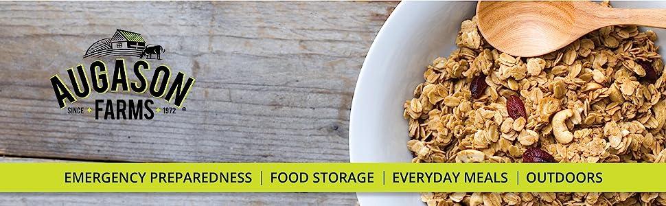 Augason Farms Emergency Preparedness Food Storage Grains Rice