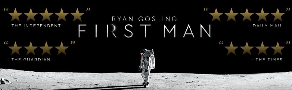 First Man, Ryan Gosling, movie, blu-ray, dvd, space, 4k, academy award, NASA