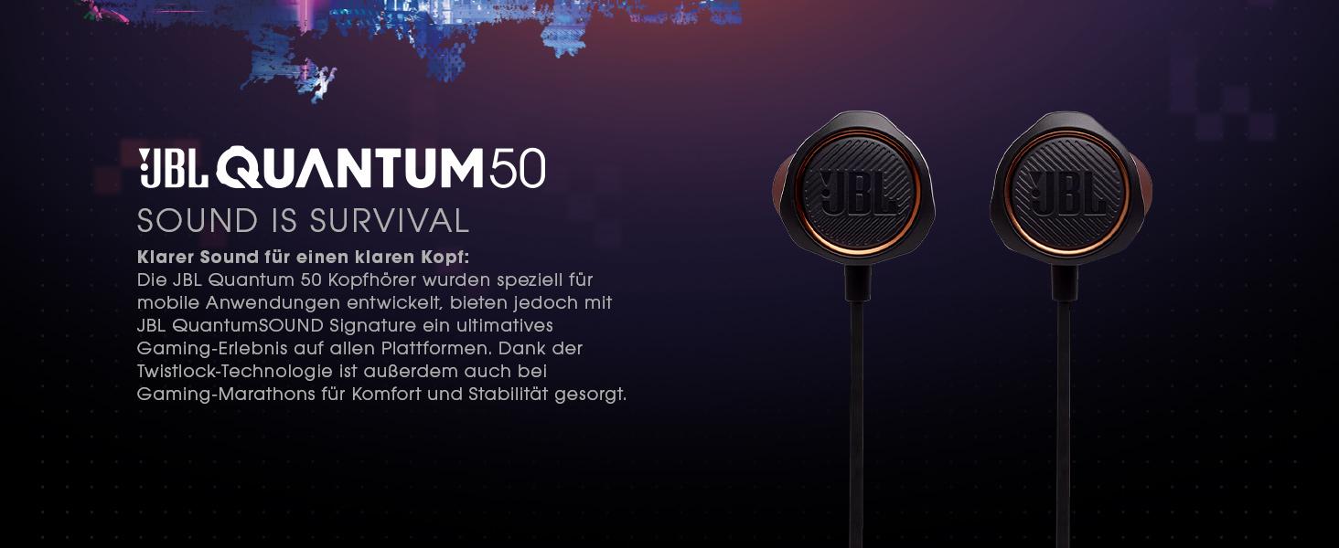 Jbl Quantum 50 In Ear Gaming Kopfhörer In Schwarz Für Elektronik