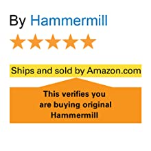 "5 star rating and the words: ""ships and sold by Amazon"" ensure original Hammermill paper."