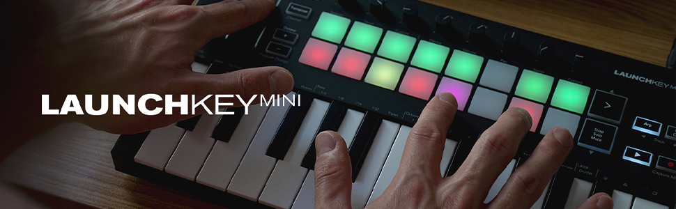 novation launchkey mini compact midi keyboard