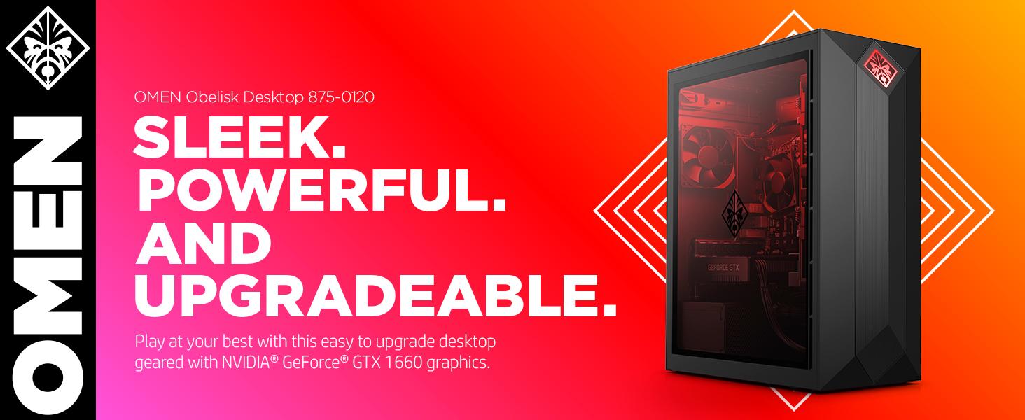 OMEN by HP Obelisk Desktop 875-0120 sleek power powerful upgrade upgradable easy game gaming