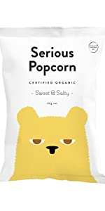 serious food co, serious popcorn, sweet & salty, snacks, healthy snacks, new zealand, popcorn