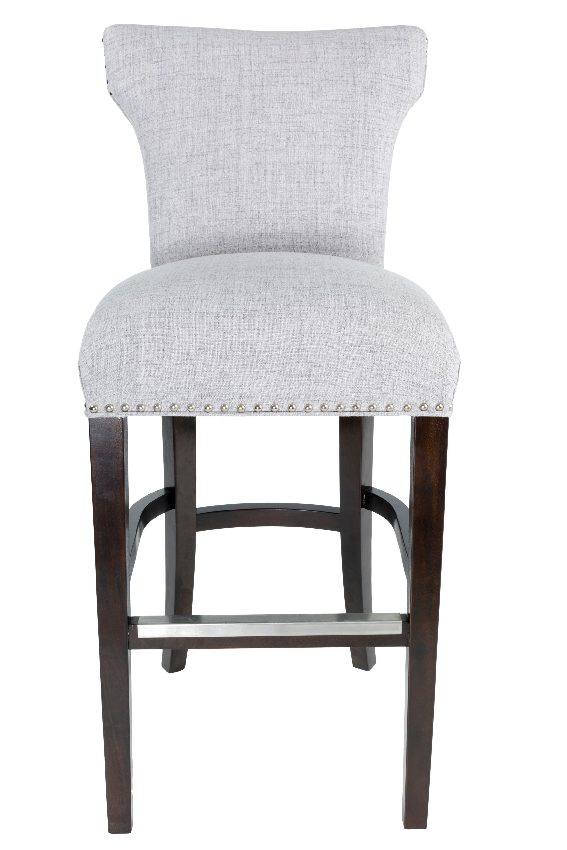 Beautiful Upholstered Bar Stools with Backs
