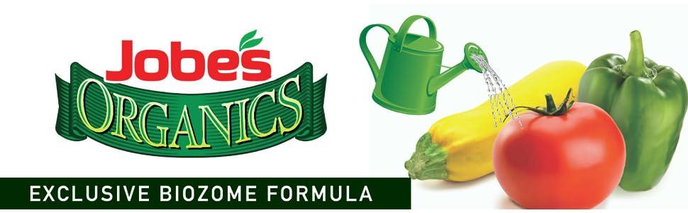 Jobe's Organic Vegetable Tomato Fertilizer Biozome Gardening Plant Food Liquid Water Soluble