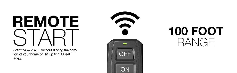 remote, start, inverter, generator, energizer, ezv3200P