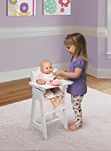 and Spoon fits American Badger Basket White Doll High Chair with Plate Bib