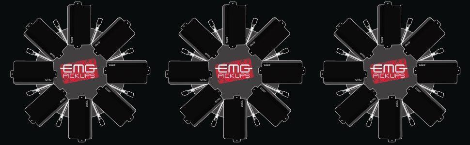EMG ZW Zakk Wylde Signature Humbucker Guitar Pickup Set, Black Dean Zone B Pickup Wiring Diagram One Tone And on